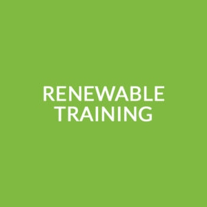 Renewable Training